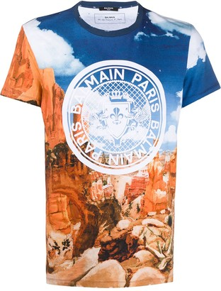 Balmain Grand Canyon print T-shirt