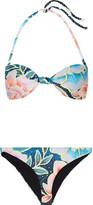 Mara Hoffman Arcadia Printed Bandeau Bikini - Azure