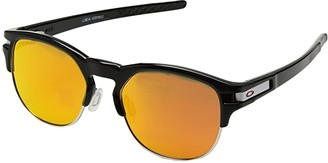 Oakley Latch Key M (52) (Polished Black Ink w/ Prizm Ruby) Athletic Performance Sport Sunglasses