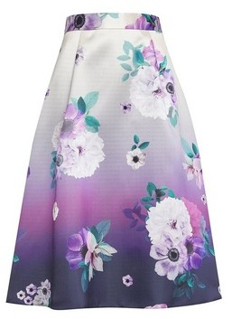 Dorothy Perkins Womens Luxe Ombre Floral Print Midi Skirt