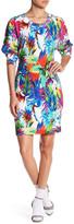 Love Moschino Long Sleeve Knit Print Dress