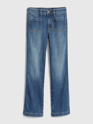 Gap Kids High Rise Flare Jeans with Stretch