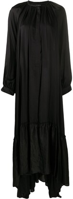 Ann Demeulemeester Draped Satin Maxi Dress