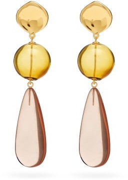 Lizzie Fortunato Miele Gold-plated Drop Earrings - Multi