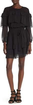 Rebecca Minkoff Portia Dot & Ruffle Mini Dress