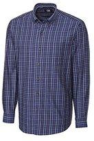 Cutter & Buck Men's Long Sleeve Jackson Plaid Woven Shirt