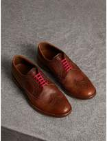 Burberry Grainy Leather Brogues with Bright Laces