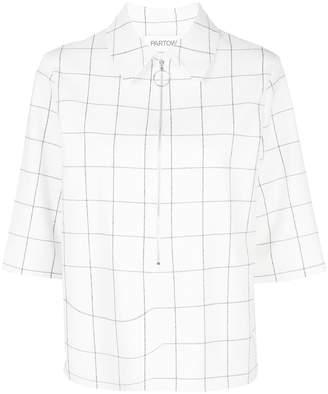 PARTOW Hewitt half-zip blouse