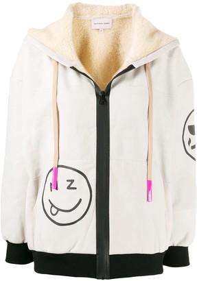 Natasha Zinko Smiles print zip-up hoodie