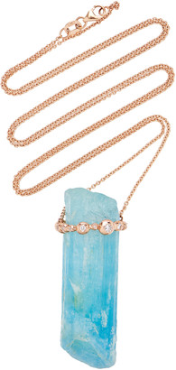 N. Jill Hoffmeister One-Of-A-Kind 14K Rose Gold, Diamond And Aquamarine