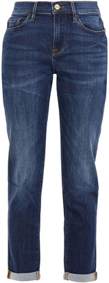 Frame Le Garcon Cropped High-rise Straight-leg Jeans
