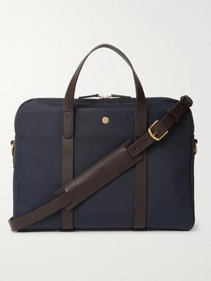 Mismo Leather-Trimmed Nylon Briefcase - Men - Blue