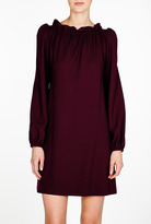 Goat Excusive Purdy Gather Neck Crepe Dress