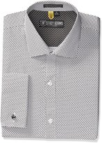 Stacy Adams Men's Tampa Dress Shirt, White/Black