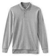 Classic Men's Long Sleeve Interlock Polo-White
