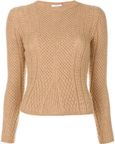 Max Mara Ronco cable knit sweater - women - Polyamide/Camel Hair/Wool - S