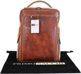Primo Sacchi Luxury Italian Hand Made Leather Ladies Classic Style Brown Back Pack Rucksack Briefcase Shoulder Bag. Includes Branded Protective Storage Bag