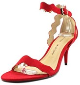 Chinese Laundry Rosie Women Open-toe Suede Red Slingback Heel.