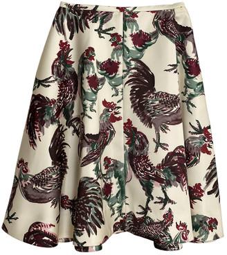 Rochas Ecru Skirt for Women