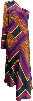 House of Holland printed one-shoulder dress