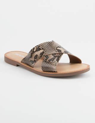 Soda Sunglasses Lunacy Snake Womens Sandals