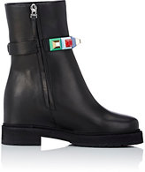 Fendi Women's Studded-Strap Ankle Boots-BLACK