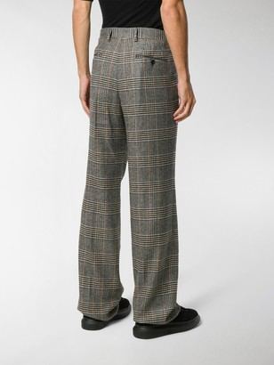 Dolce & Gabbana Flared Check-Print Tailored Trousers