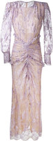 Alessandra Rich - long-sleeved lace gown - women - Metallic Fibre/Polyamide/Spandex/Elastane - 40