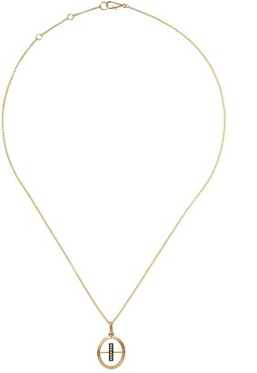 Annoushka 18kt yellow gold diamond initial I necklace