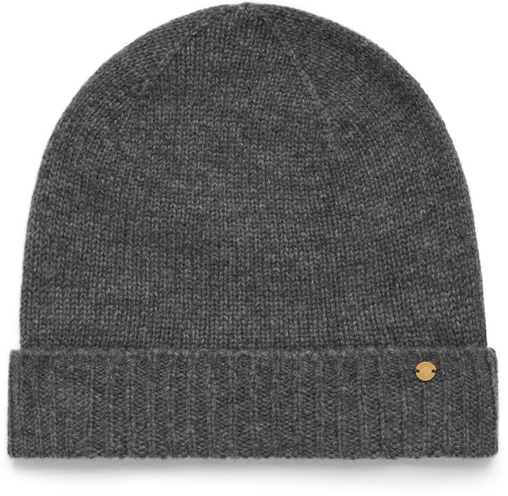 Mulberry Cashmere Hat Grey Cashmere