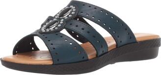 Easy Street Shoes Women's Vara Sandal Jewels and enameled Ornaments. Slide