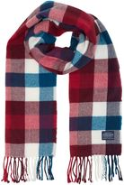 Joules Bracken Checked Long Scarf
