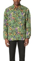 White Mountaineering Tropical Pattern Printed Taffeta Coach Jacket