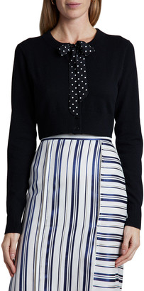 Altuzarra Wool-Cashmere Knit Tie-Neck Cardigan