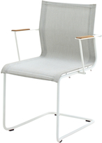 Houseology Gloster Sway Stacking Chair with Arms - White - Seagull