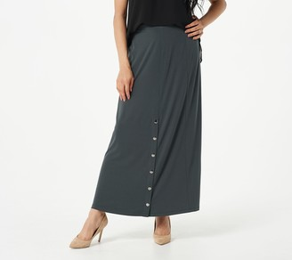 Susan Graver Every Day by Petite Liquid Knit Maxi Skirt