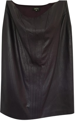Raoul Burgundy Leather Skirt for Women