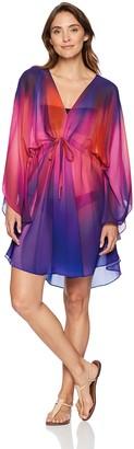 Gottex Women's Flutter Sleeve V-Neck Tunic Swimsuit Cover Up