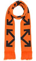 Off-White Diagonal Arrows Scarf in Orange.