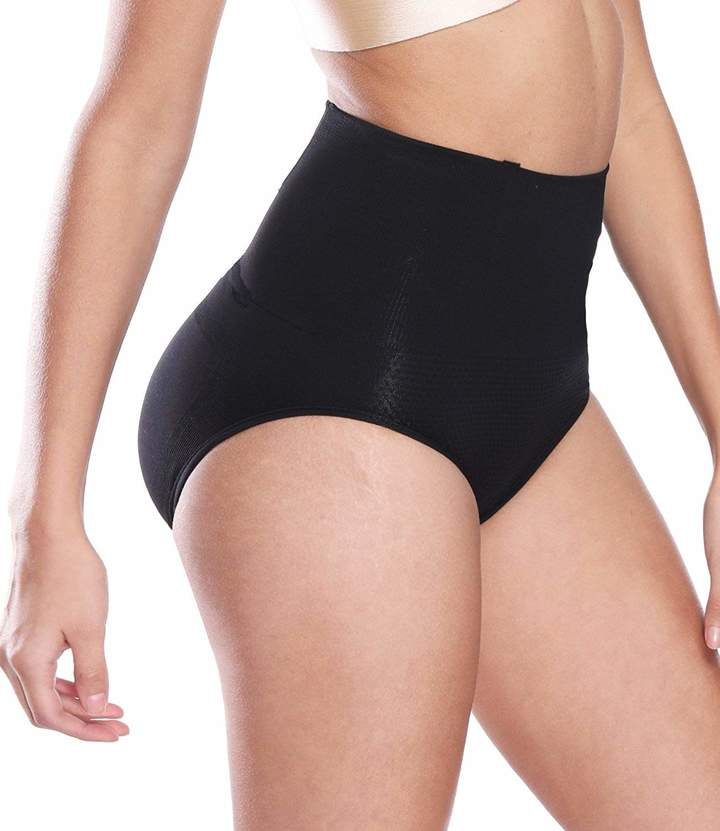 XOKIMI Women High Waisted Padded Thong Tummy Control Body Shaper Cincher Underwear Girdle Shapewear