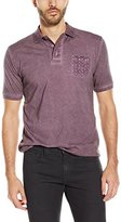 Stone Rose Men's Washed Jersey Polo Shirt
