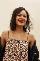 Topshop Leopard mini slip dress