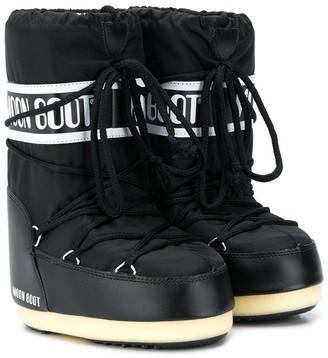 Moon Boot Kids logo print snow boots