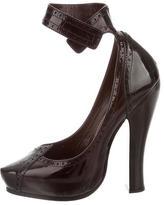Marc Jacobs Patent Leather Ankle-Strap Pumps