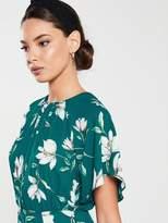 Very Kimono Sleeve Midi Dress - Floral Print