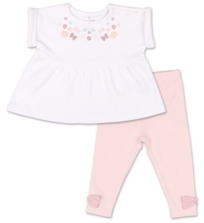 The Peanut Shell The Baby Girl Tiny Blooms Floral Tunic Shirt and Pant Set