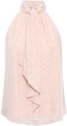 Joie Leikyn Tie-neck Printed Silk-georgette Top