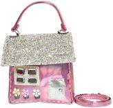 Simonetta Glittered & Laminated Faux Leather Bag