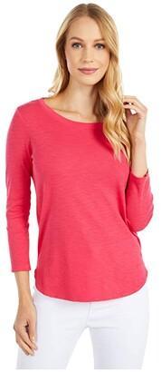Tommy Bahama Ashby Rib 3/4 Sleeve Tee (Black) Women's T Shirt
