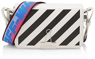 Off-White Diagonal Stripe Leather Crossbody Bag